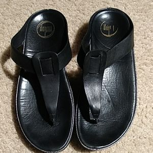 Fitflop Leather Thong Sandals 8